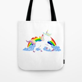 I Don't Believe In Human Introvert Unicorn Magical Creatures Magic Fantasy Rainbow Gift Tote Bag