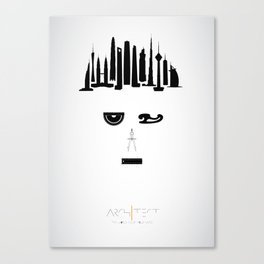 the world inside your head | Architect Canvas Print