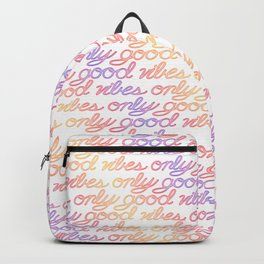 Good Vibes Only - Rainbow Backpack