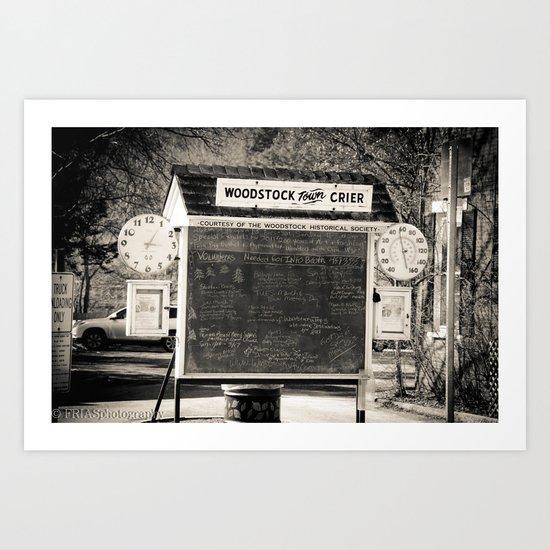 chalk board crier Art Print