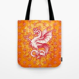 Noble House GINGER FIRE / Grungy heraldry design Tote Bag
