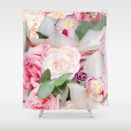 In a Giant's Flower Garden Shower Curtain