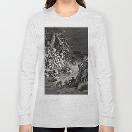 World Destroyed by Water Gustave Dore, 1866 Long Sleeve T-shirt