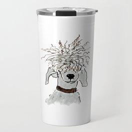 dog with funny hair Travel Mug