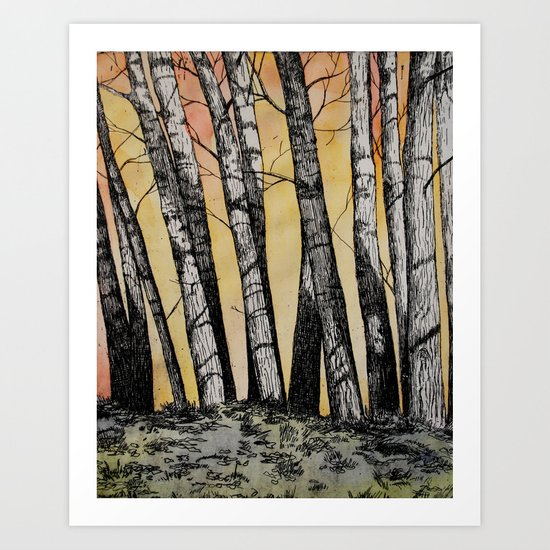 Row of Trees Art Print
