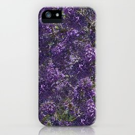 Jacaranda Blossoms iPhone Case