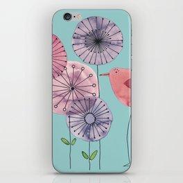 "Birdy blue ""Speak to me!"" iPhone Skin"
