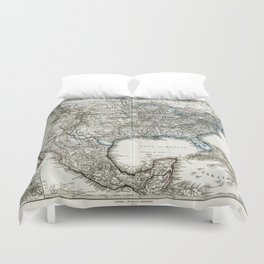 Vintage USA Map  Duvet Cover