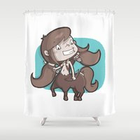 sagittarius Shower Curtains featuring Sagittarius by Chiara Zava