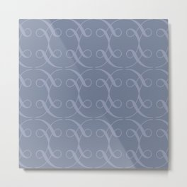 Swashes in Periwinkle Metal Print
