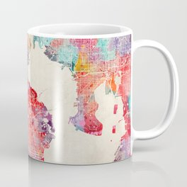 St. Petersburg map Florida painting 2 Coffee Mug