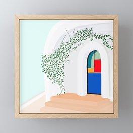 Green Glass Doors Framed Mini Art Print
