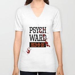 Psych Ward Shirt | Halloween Inmate - T Shirt Unisex V-Neck