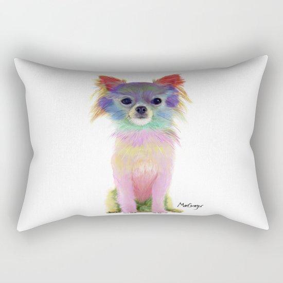 Colorful chihuahua Rectangular Pillow