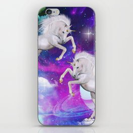 space unicorns v iPhone Skin