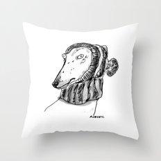 winter greyhound Throw Pillow