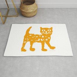 Orange cat illustration, cat pattern Rug