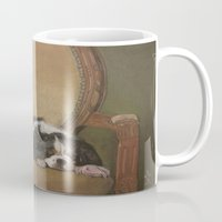 downton abbey Mugs featuring Abbey by Ambre Wallitsch