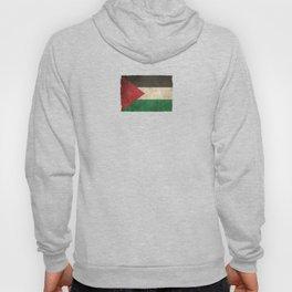 Old and Worn Distressed Vintage Flag of Palestine Hoody