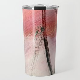 Train of thought: a vibrant abstract mixed media piece Travel Mug