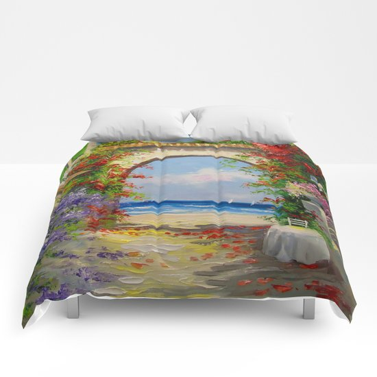At the seaside Comforters