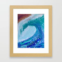 """""""Pacific Wave"""" by Laurie Ann Hunter Framed Art Print"""