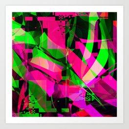 pink & lime Art Print