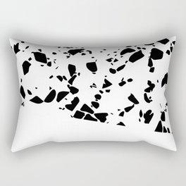 Terrazzo Texture Black and White #8 Rectangular Pillow