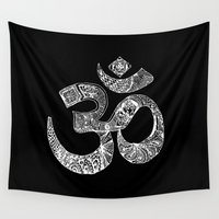 om Wall Tapestries featuring OM by Maioriz Home