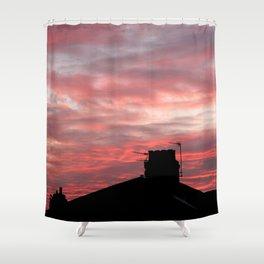 Winter sunset over London Shower Curtain