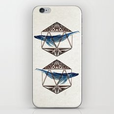 whale in the icosahedron iPhone & iPod Skin
