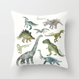 Dinosaurs Throw Pillow