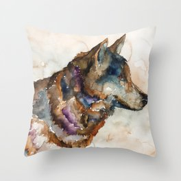WOLF#1 Throw Pillow