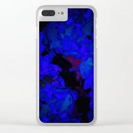 A dark blue crash Clear iPhone Case