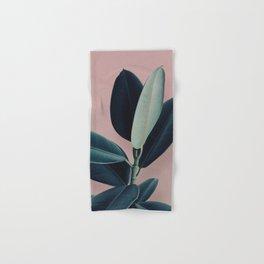 Ficus elastica - berry Hand & Bath Towel