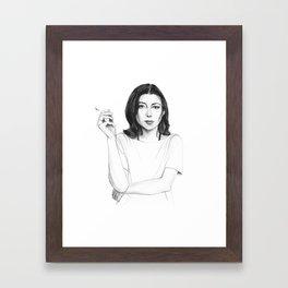 Joan Didion Framed Art Print