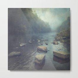 Stones in A River Metal Print