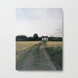 farm in the countryside Metal Print