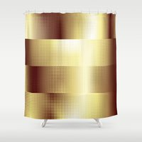 copper Shower Curtains featuring Copper Pattern by Robin Curtiss