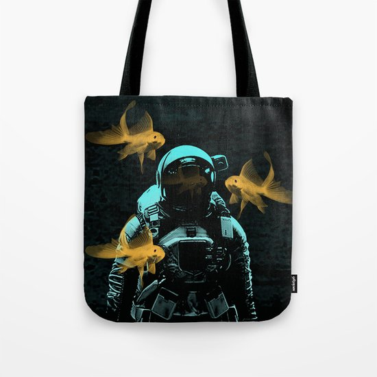 astronauts and goldfish Tote Bag