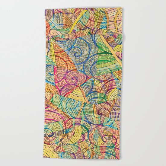 Colorful pattern (a little geometry) Beach Towel