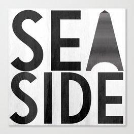 Seaside Typography 2 Canvas Print