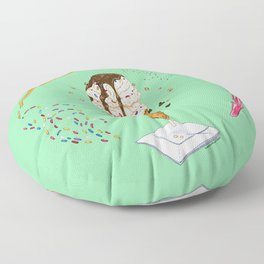 Ice Cream Mandala Floor Pillow