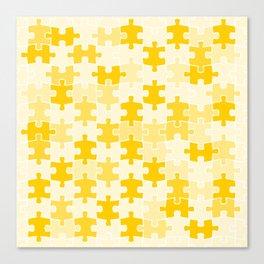 Yellow Jigsaw Puzzle Canvas Print