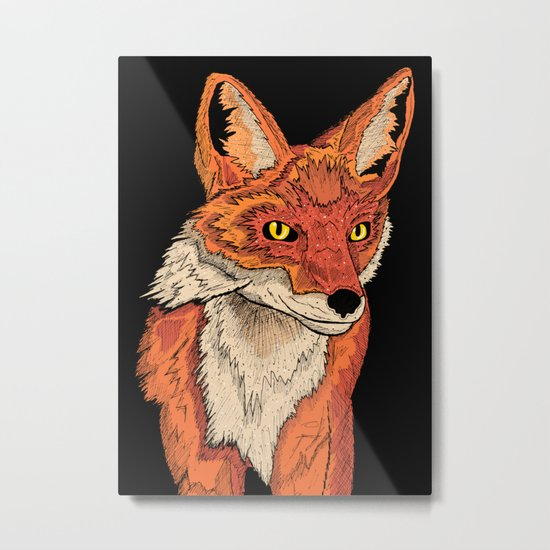 Mr Fox Metal Print