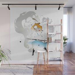Alice and Bill - Alice in Wonderland Wall Mural