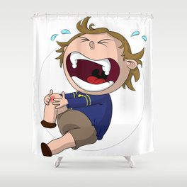 Skinned Knee of Hurtyness Shower Curtain