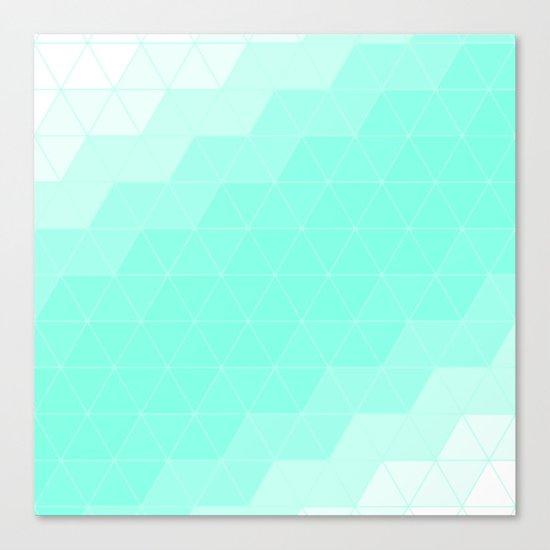 Mint Triangle Canvas Print