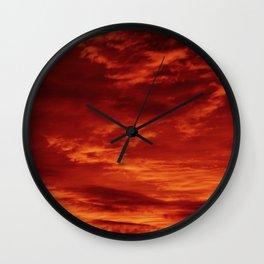 Inferno Skies Wall Clock