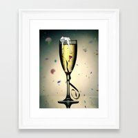 champagne Framed Art Prints featuring Champagne by CokecinL